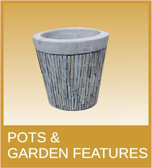 pots and garden features