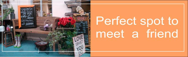 cafe meet a friend