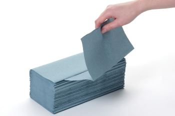 Paper hand towel blue