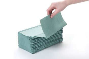 Paper hand towel green