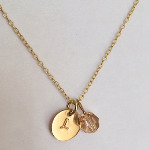 Vermeil Gold & Swarovski Personalised Necklace