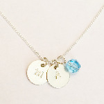Sterling Silver & Swarovski Initial Necklace