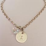 Sterling Silver & Swarovski Initial Bracelet