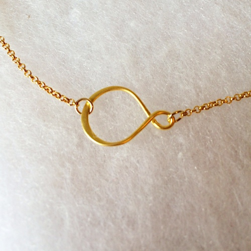 <!--001--> Gold Vermeil Infinity Necklace