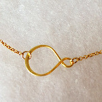 Gold Vermeil Infinity Necklace