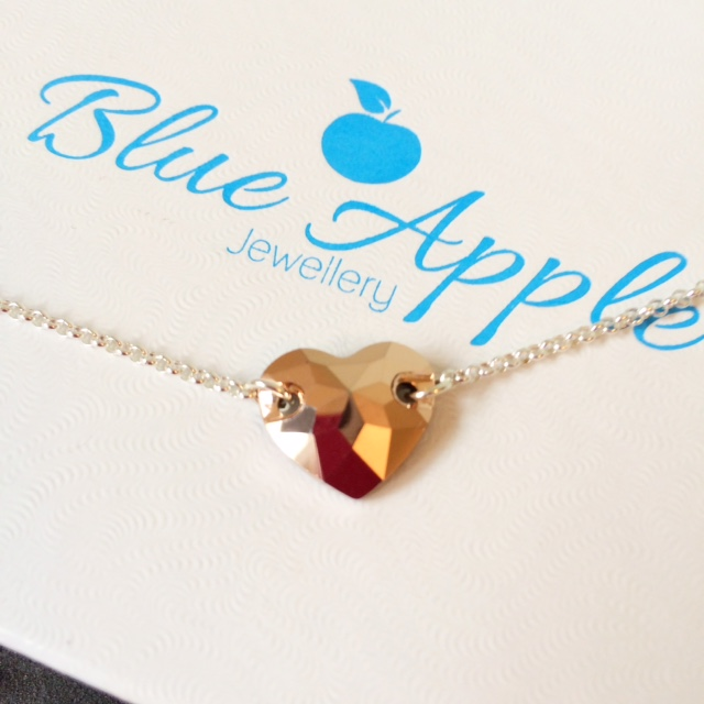 <!--002-->Swarovski Rose Gold Love Token Necklace
