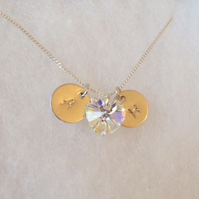 <!--007-->Personalised Stamped Initial Necklace