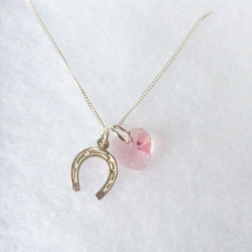 Horseshoe Pendant (Pink)