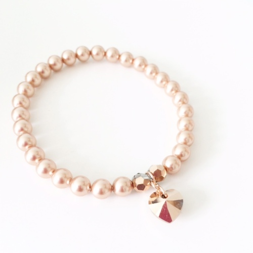 <!--002-->Rose Gold Heart Bracelet