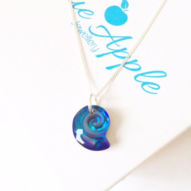 Bermuda Blue Seashell Pendant