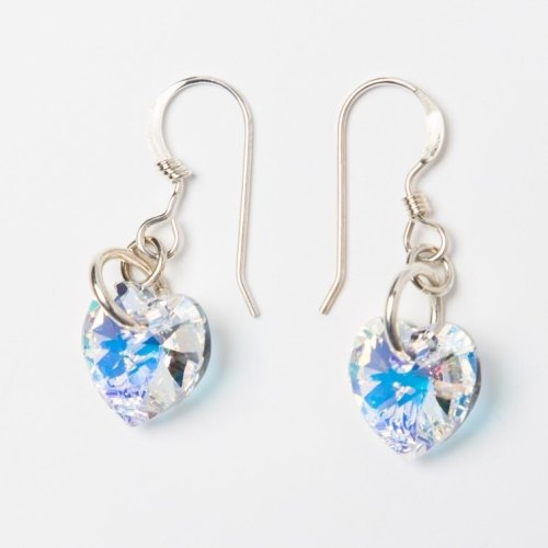 <!--002-->Crystal Sweet Heart Earrings
