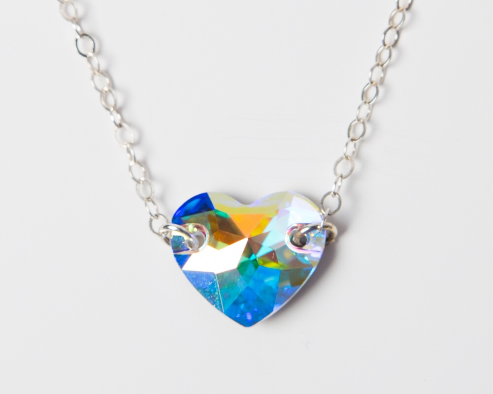 <!--001-->Swarovski Crystal Love Token Necklace