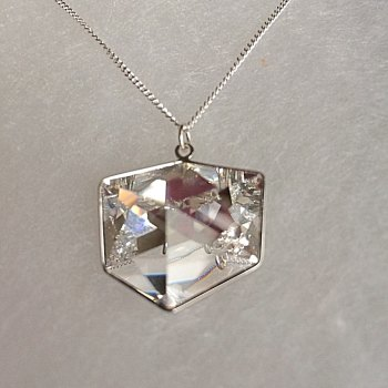 A Tilted Dice Pendant