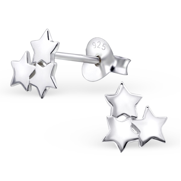<!--001-->Triple Star Earrings