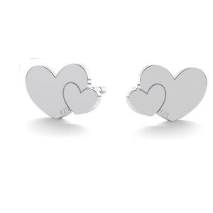 Two Hearts Stud Earrings