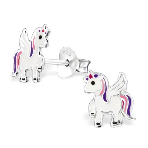 <!--001--> Pink Unicorn Earrings