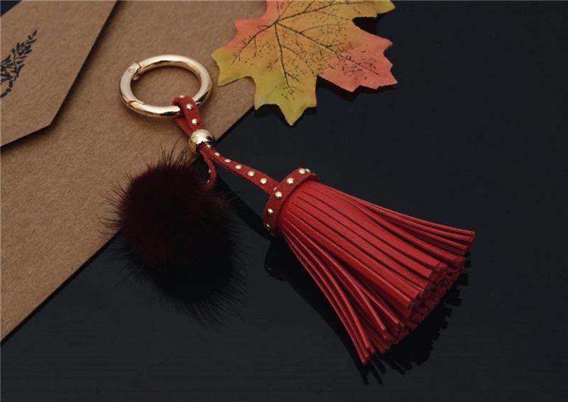 Red Tassel Key Ring (No Swarovski)