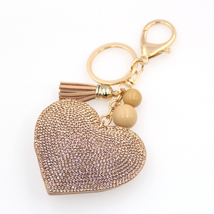 Natural Heart Keyring (No Swarovski)