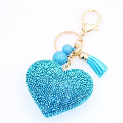 Turquoise Heart Keyring (No Swarovski)