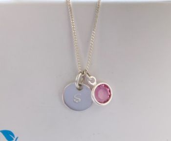 Birthstone Pendant October