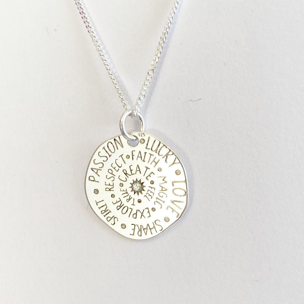 Sterling Silver Talisman Pendant