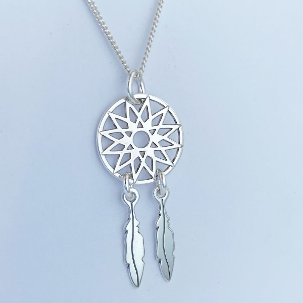 Sterling Silver Dreamcatcher Pendant