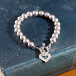 <!--003-->Silver Love Links Bracelet