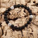 <!--010-->Mystic Black Glitter Bomb Bracelet