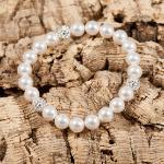 <!--012-->Pure White Glitter Bomb Bracelet