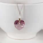 Antique Pink Crystal Pendant
