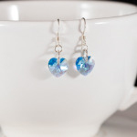 <!--003-->Aquamarine Sweet Heart Earrings