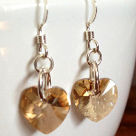 Golden Shadow Sweet Heart Earrings