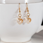 Golden Shadow Sweet Heart Earrings (Gold)