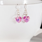 Crystal Rose AB Sweet Heart Earrings