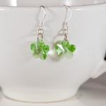 Peridot Crystal Flower Earrings