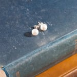 <!--017-->Swarovski White Crystal Pearl Earrings