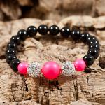 Neon Pink Cluster Bracelet