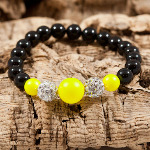 Neon Yellow Cluster Bracelet