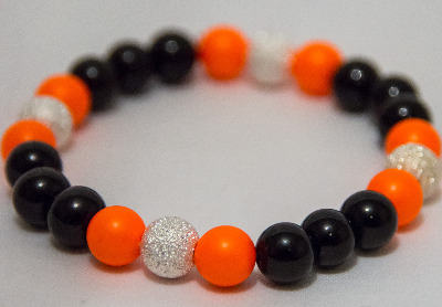 <!--009-->Neon Orange Nights Bracelet