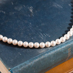 <!--013-->Swarovski White Crystal Pearl Necklace