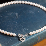 <!--005-->White Lovelinks Necklace