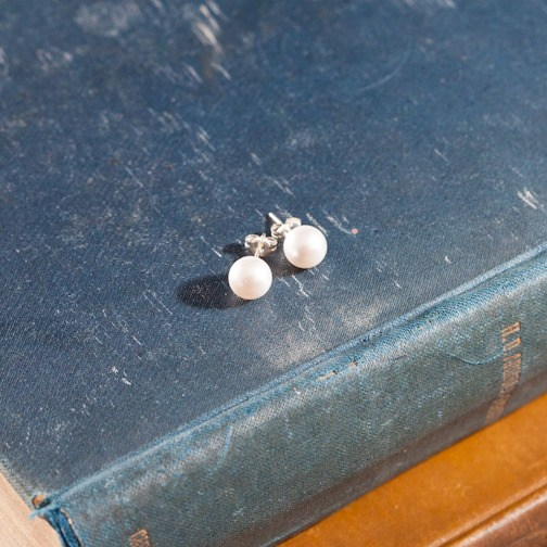 swarovski white crystal pearl earrings