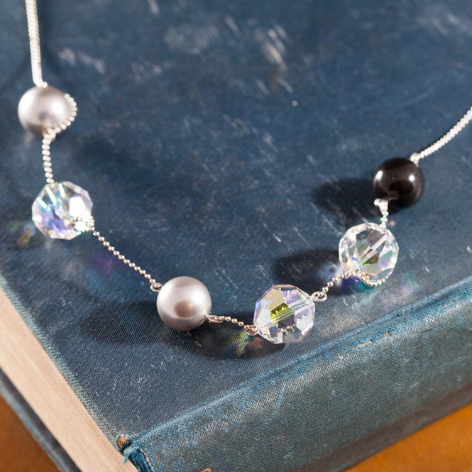 midnight crystal necklace