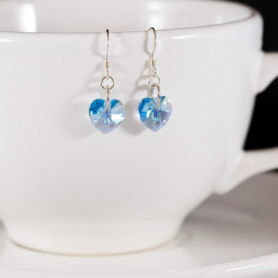 aqua sweet heart earrings 2