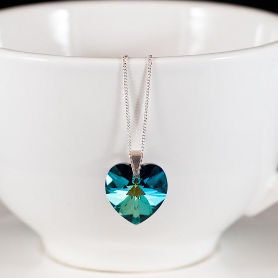 bermuda blue crystal pendant