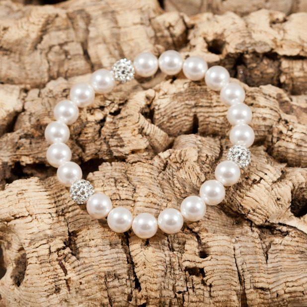 glitter bomb white bracelet