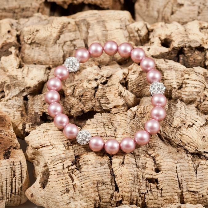 glitter bomb pink bracelet