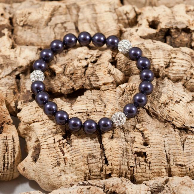 glitter bomb deep purple bracelet
