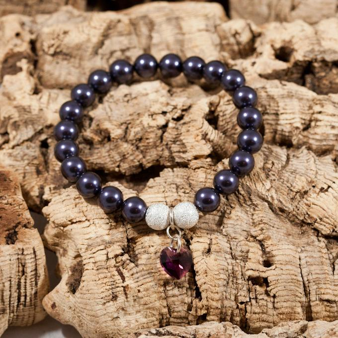 deep purple crystal bracelet
