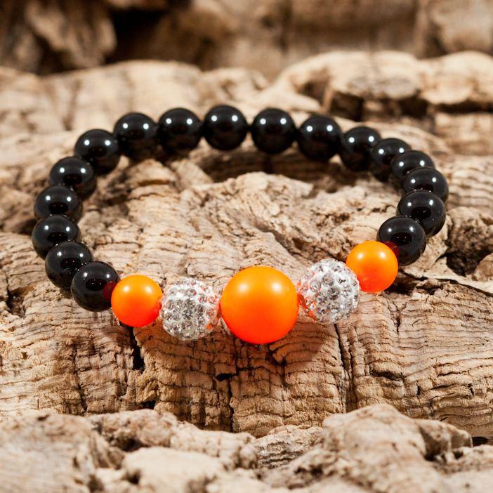 neon orange sparkle bracelet
